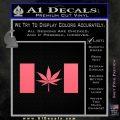 Canada Oh Cannabis Decal Sticker Pink Emblem 120x120