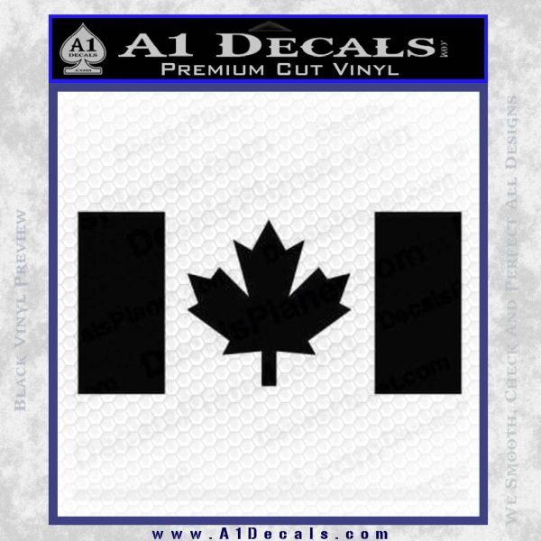 Canadian flag decal sticker black vinyl 120x120