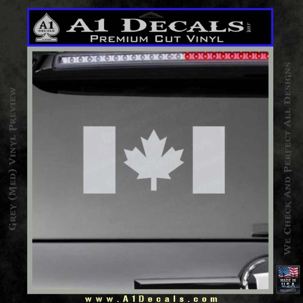 Canadian flag decal sticker grey bumper 120x120