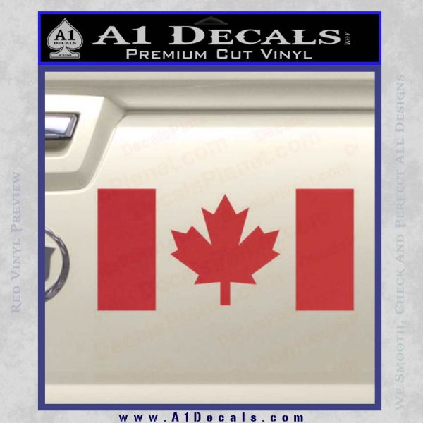 Canadian flag decal sticker red