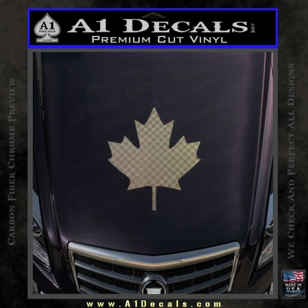 Canadian maple leaf decal sticker carbon fiber chrome vinyl 120x120