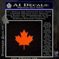 Canadian Maple Leaf Decal Sticker Orange Emblem 120x120