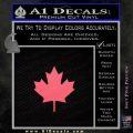 Canadian Maple Leaf Decal Sticker Pink Emblem 120x120