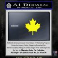 Canadian Maple Leaf Decal Sticker Yellow Laptop 120x120