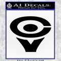 Cerwin Vega CV Decal Sticker Black Vinyl 120x120