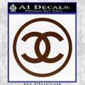 Chanel CR1 Decal Sticker BROWN Vinyl 120x120