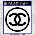Chanel CR1 Decal Sticker Black Vinyl 120x120
