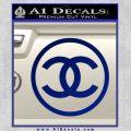 Chanel CR1 Decal Sticker Blue Vinyl 120x120