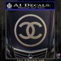 Chanel CR1 Decal Sticker Carbon FIber Chrome Vinyl 120x120