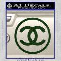 Chanel CR1 Decal Sticker Dark Green Vinyl 120x120