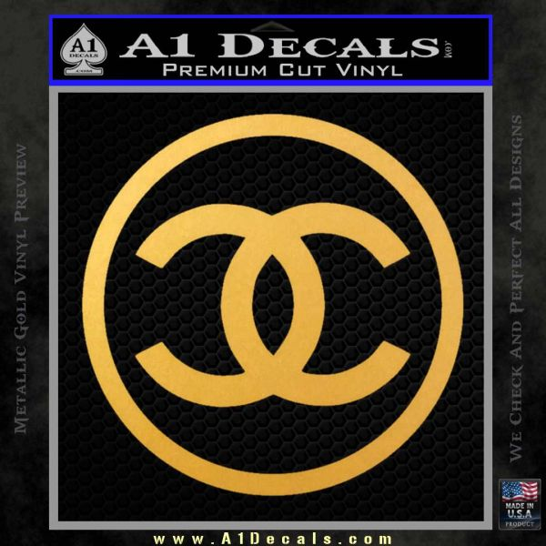 Chanel CR1 Decal Sticker Gold Vinyl
