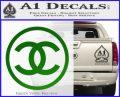 Chanel CR1 Decal Sticker Green Vinyl Logo 120x97