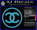 Chanel CR1 Decal Sticker Light Blue Vinyl 120x97