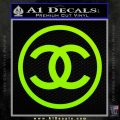 Chanel CR1 Decal Sticker Lime Green Vinyl 120x120