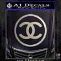 Chanel CR1 Decal Sticker Metallic Silver Emblem 120x120