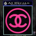 Chanel CR1 Decal Sticker Pink Hot Vinyl 120x120
