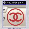 Chanel CR1 Decal Sticker Red 120x120