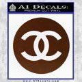 Chanel CR2 Decal Sticker BROWN Vinyl 120x120