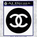 Chanel CR2 Decal Sticker Black Vinyl 120x120
