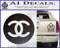 Chanel CR2 Decal Sticker Carbon FIber Black Vinyl 120x97