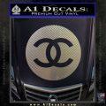 Chanel CR2 Decal Sticker Carbon FIber Chrome Vinyl 120x120