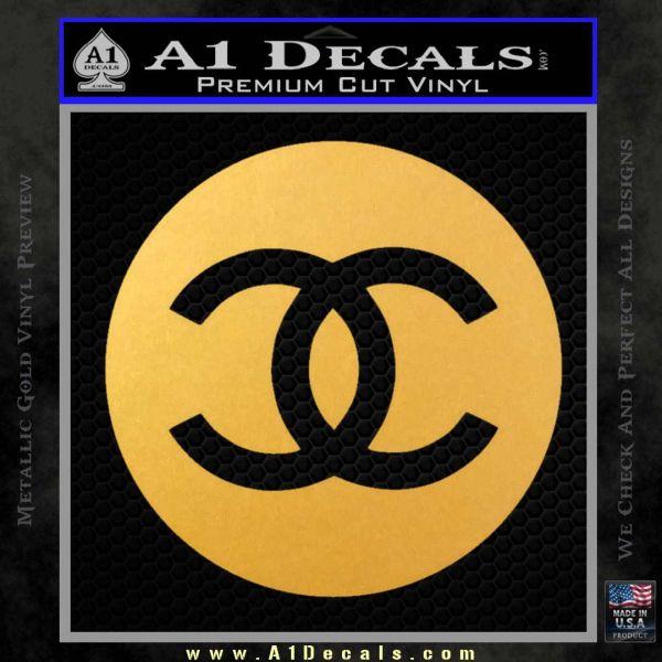 Chanel CR2 Decal Sticker Gold Vinyl