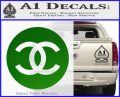 Chanel CR2 Decal Sticker Green Vinyl Logo 120x97
