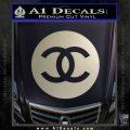Chanel CR2 Decal Sticker Metallic Silver Emblem 120x120