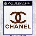 Chanel Full Decal Sticker BROWN Vinyl 120x120
