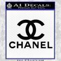 Chanel Full Decal Sticker Black Vinyl 120x120