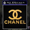 Chanel Full Decal Sticker Gold Vinyl 120x120