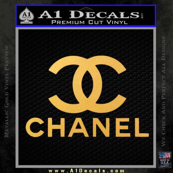 Chanel Full Decal Sticker Gold Vinyl