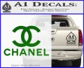 Chanel Full Decal Sticker Green Vinyl Logo 120x97