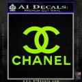 Chanel Full Decal Sticker Lime Green Vinyl 120x120