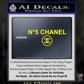Chanel No5 Decal Sticker Yellow Laptop 120x120
