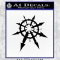 Chaos Symbol Anarchy D2 Decal Sticker Black Vinyl 120x120