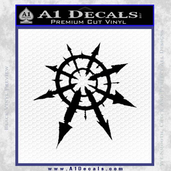 Chaos Symbol Anarchy D2 Decal Sticker Black Vinyl