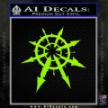 Chaos Symbol Anarchy D2 Decal Sticker Lime Green Vinyl 120x120