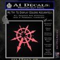 Chaos Symbol Anarchy D2 Decal Sticker Pink Emblem 120x120