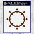 Chaos Symbol Wheel Decal Sticker BROWN Vinyl 120x120