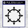 Chaos Symbol Wheel Decal Sticker Black Vinyl 120x120