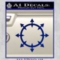 Chaos Symbol Wheel Decal Sticker Blue Vinyl 120x120