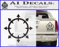 Chaos Symbol Wheel Decal Sticker Carbon FIber Black Vinyl 120x97