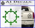 Chaos Symbol Wheel Decal Sticker Green Vinyl Logo 120x97