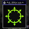 Chaos Symbol Wheel Decal Sticker Lime Green Vinyl 120x120