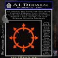 Chaos Symbol Wheel Decal Sticker Orange Emblem 120x120