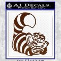 Cheshire Cat D2 Decal Sticker BROWN Vinyl 120x120