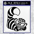 Cheshire Cat D2 Decal Sticker Black Vinyl 120x120