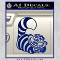 Cheshire Cat D2 Decal Sticker Blue Vinyl 120x120