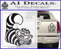 Cheshire Cat D2 Decal Sticker Carbon FIber Black Vinyl 120x97